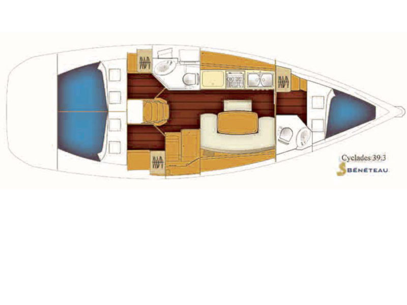 Cyclades 39.3 (Alize) Plan image - 10