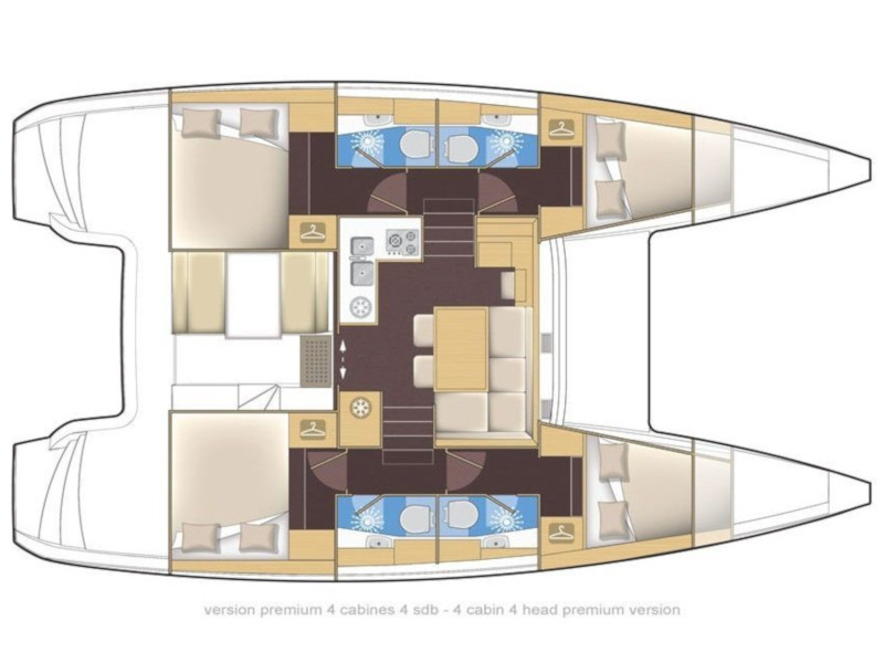 Lagoon 39 (Salty Dog) Plan image - 17