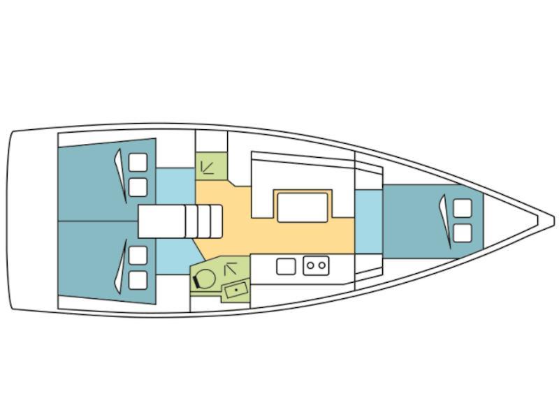 Oceanis 38 (Kiriaki) Plan image - 3