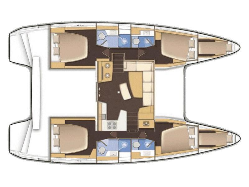 Lagoon 42 (Aria) Plan image - 10