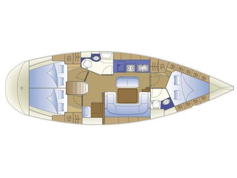 Bavaria 41 (SAX II) Plan image - 2