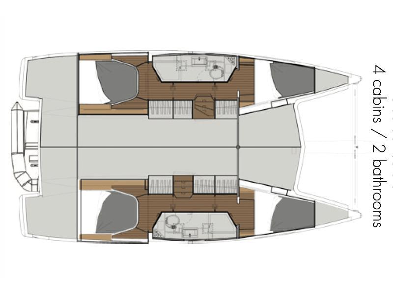Lucia 40 (Rhum marin) Plan image - 1