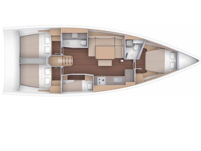 Dufour 430 (Qumsal) Plan image - 4