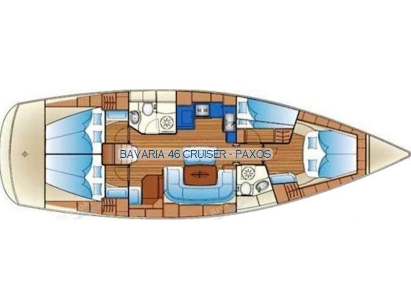 Bavaria 46 Cruiser (Paxos) Plan image - 1