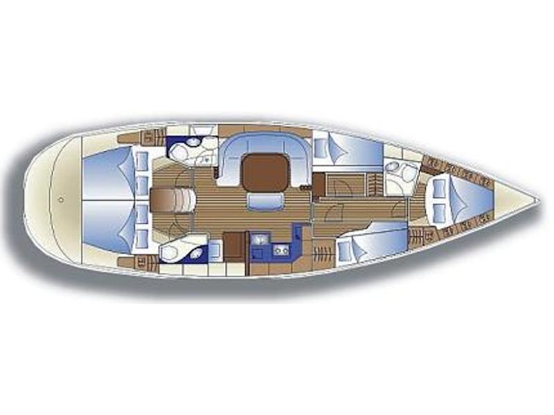 Bavaria 49 (Tortola) Plan image - 3