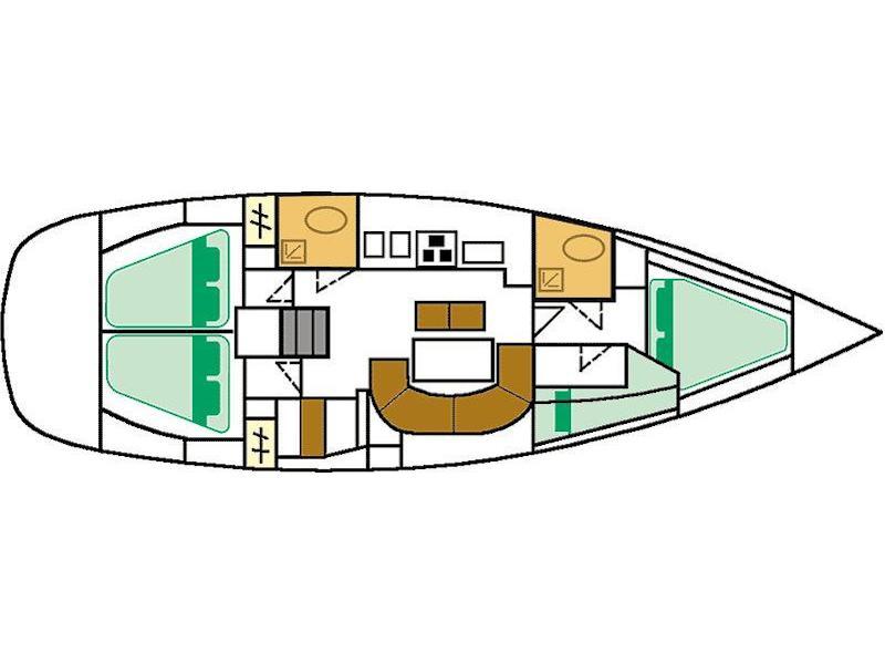 Oceanis 411 (Simonetta (Bow Thruster, electric heads)) Plan image - 5