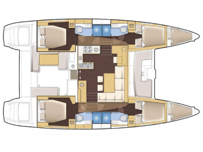 Lagoon 450 (Black Duck) Plan image - 12