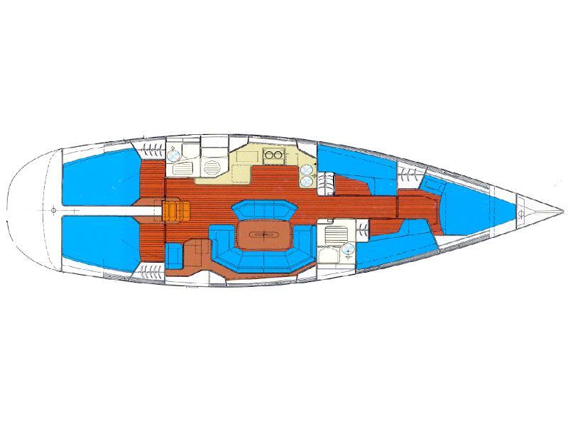Bavaria 50 (Porto Candia) Plan image - 8