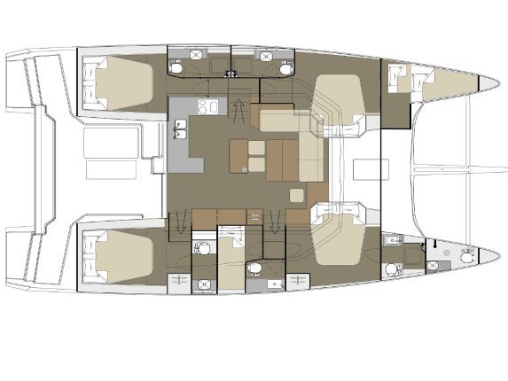 Dufour 48 Catamaran (NEW 1) Plan image - 60