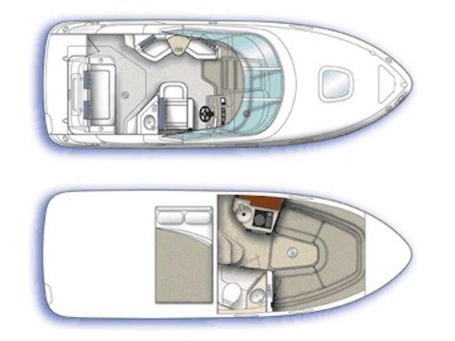 Sea Ray Sundancer 240 (Sea Ray Sundancer 240) Plan image - 14