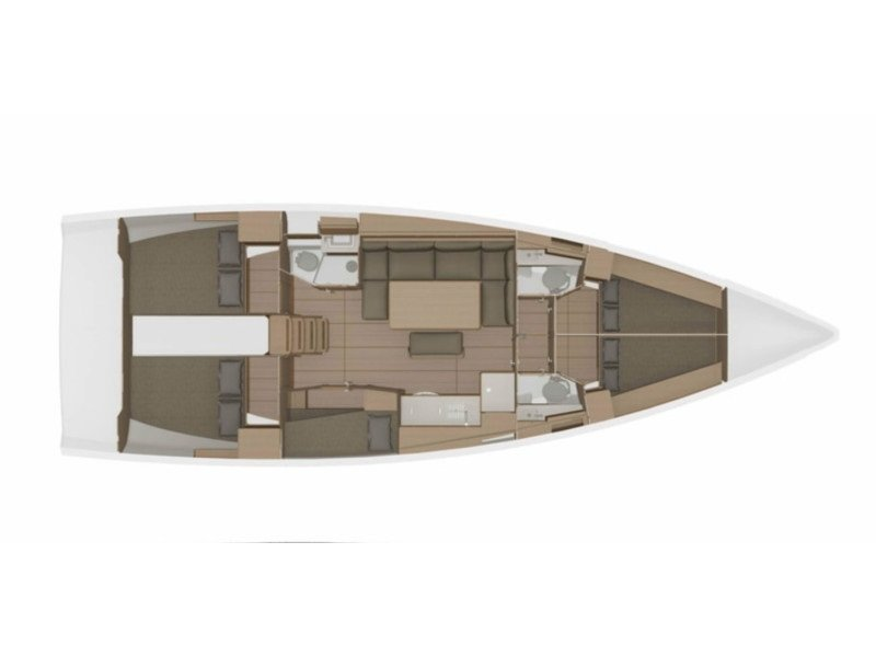 Dufour 460 Grand Large - 5 cabins (WindyLife ) Plan image - 9