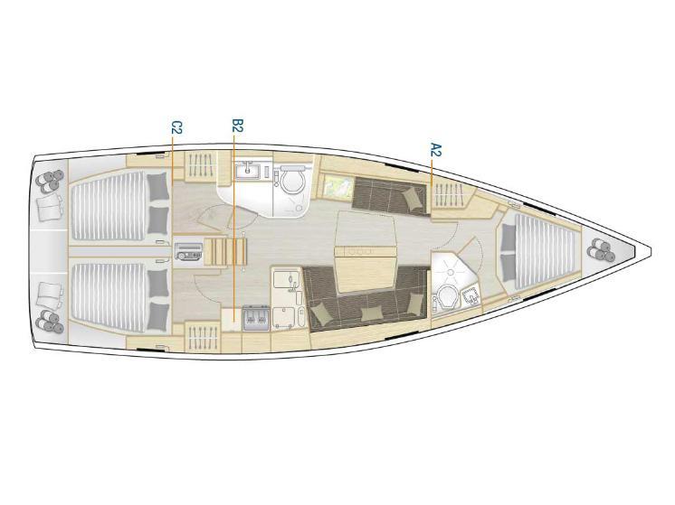 Hanse 418 (Diamante) Plan image - 4