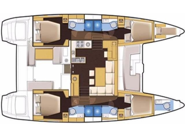 Lagoon 450  Flybridge (Lu Lu) Plan image - 6