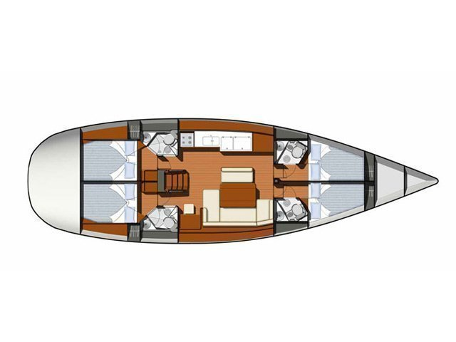 Sun Odyssey 49 (Captain Stathis) Plan image - 4