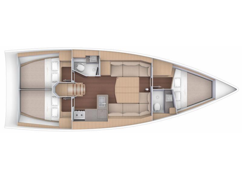 Dufour 390 Grand Large  (Nagini) Plan image - 1