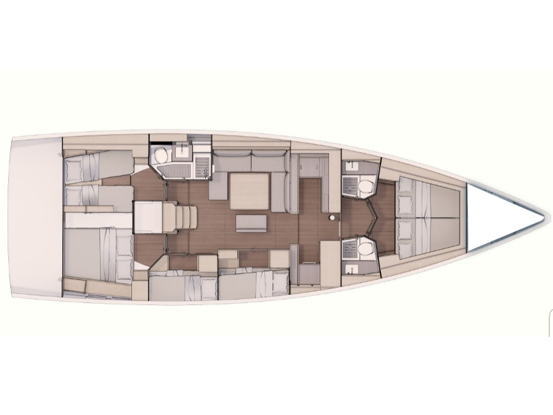 Dufour 530 (Voldemort) Plan image - 2