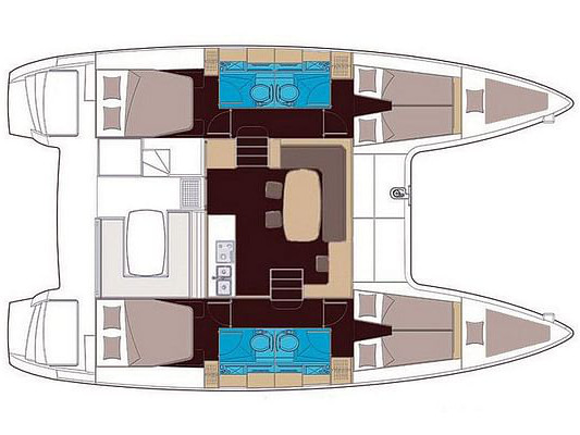 Lagoon 400 S2 (IRIS (skippered only)) Plan image - 6