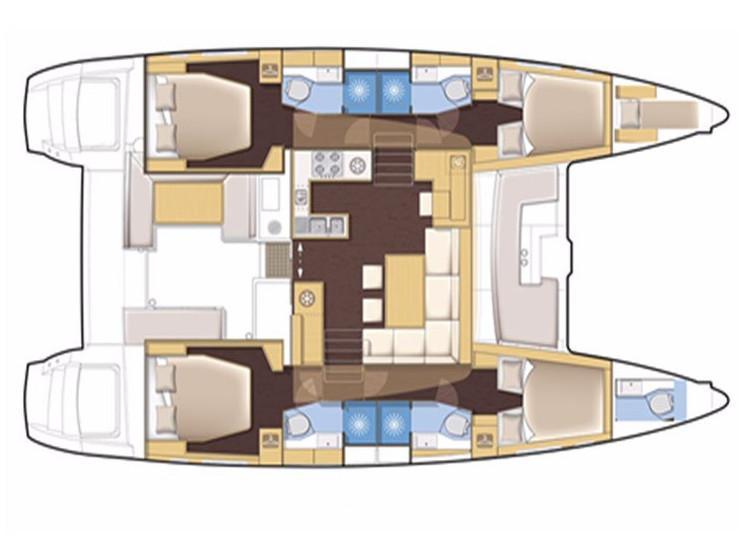 Lagoon 450  Flybridge (Cidici) Plan image - 8