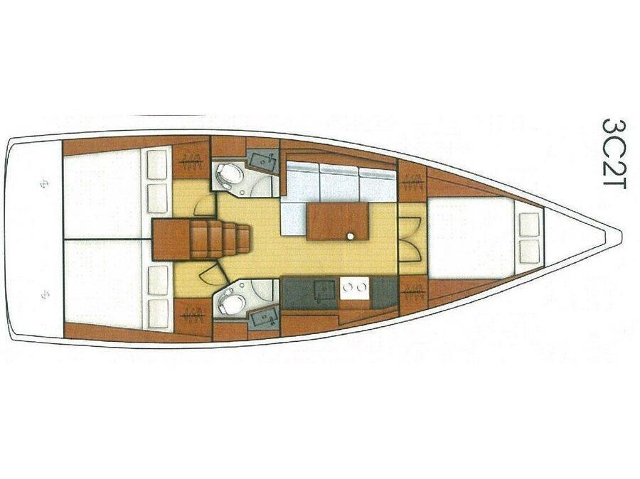 Oceanis 38.1 (SIRINA) Plan image - 9