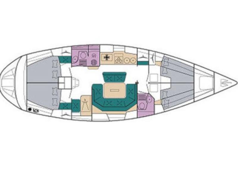 Bavaria 46H (SAIL2DAY) Plan image - 1