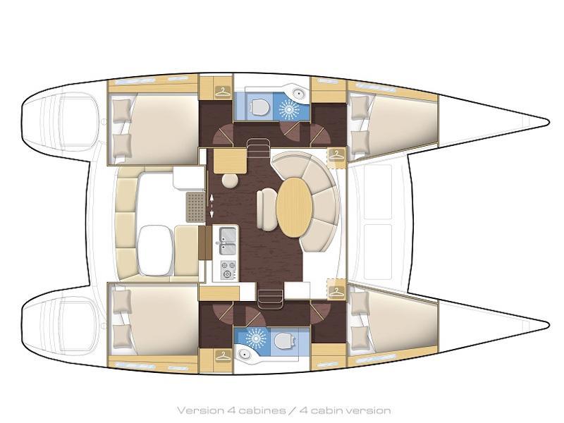 Lagoon 380 (Queen Mia) Plan image - 1