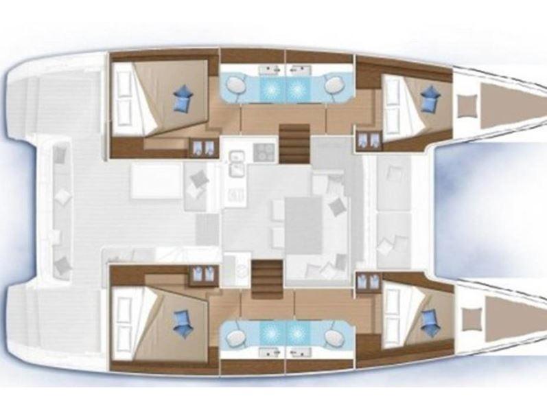 Lagoon 40 (DAIQUIRI (ex. Sail and Passion) AC in salon + generator) Plan image - 2