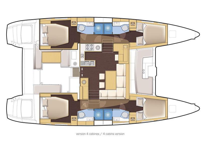 Lagoon 450  Flybridge (Grecostar) Plan image - 4