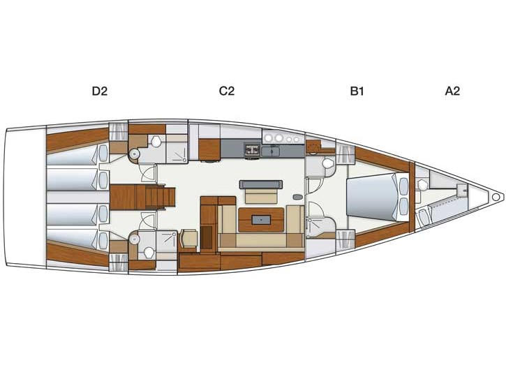 Hanse 575 (Shawe Thing (Only with Skipper)) Plan image - 2