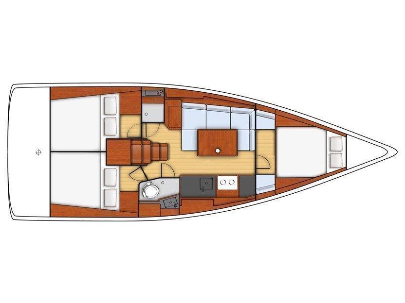 Oceanis 38 (KOS 38.3) Plan image - 2