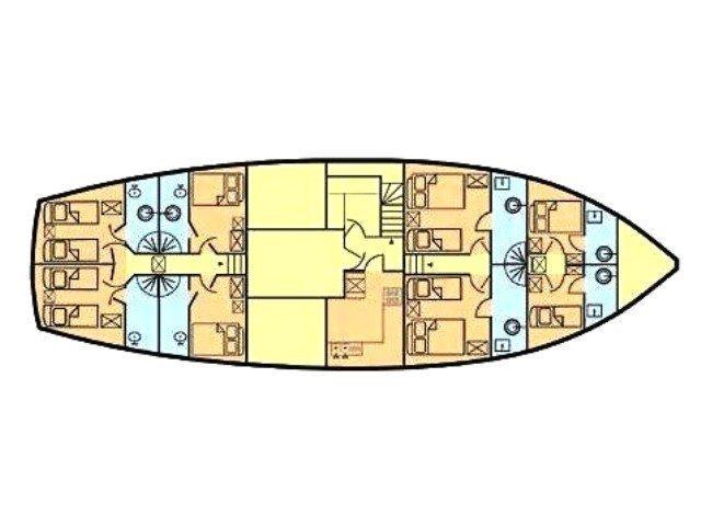 Gulet Queen of Adriatic (Queen of Adriatic) Plan image - 1