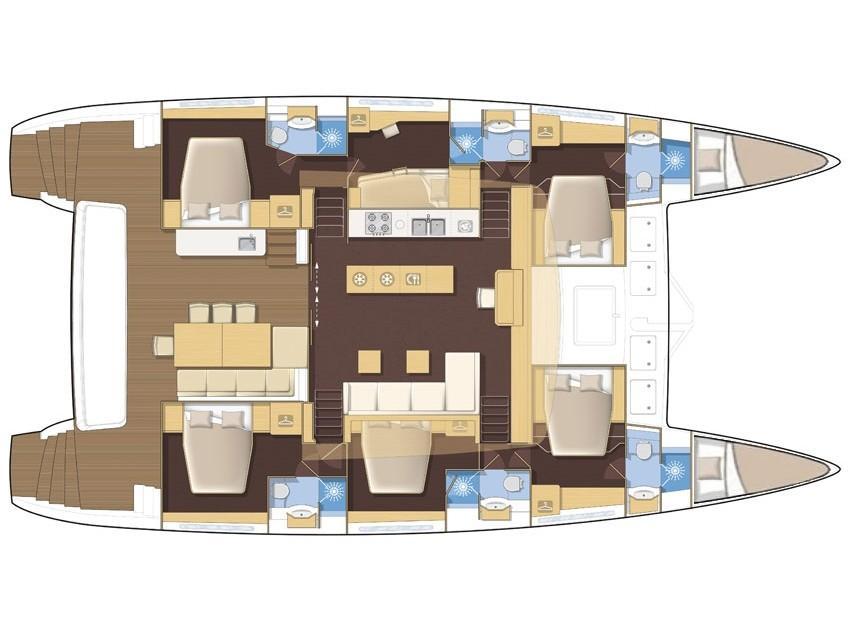 Lagoon 620 Essence (DUOLIFE) Plan image - 2