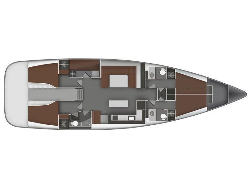 Bavaria 55 BT '11 (Vivace) Plan image - 1
