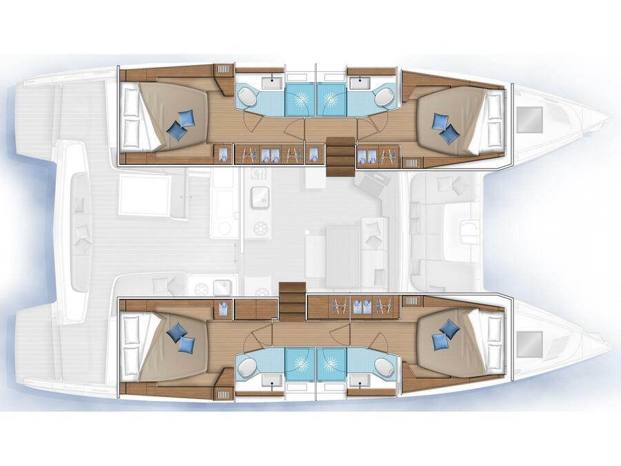 Lagoon 46 (Alter Ego (A/C-Generator)  Brand New 2021) Plan image - 7