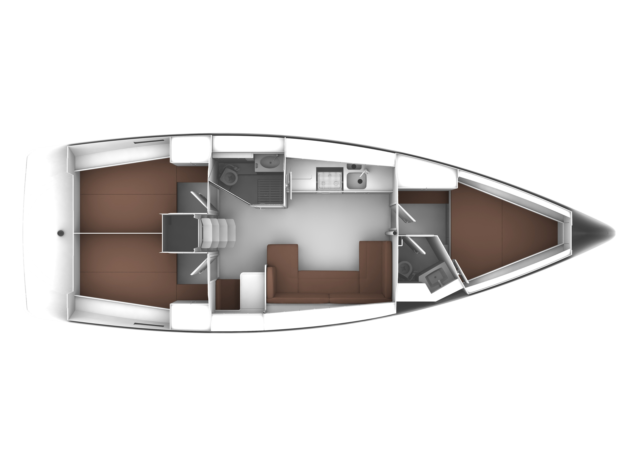 Bavaria Cruiser 41  (S/Y Erifyli) Plan image - 2