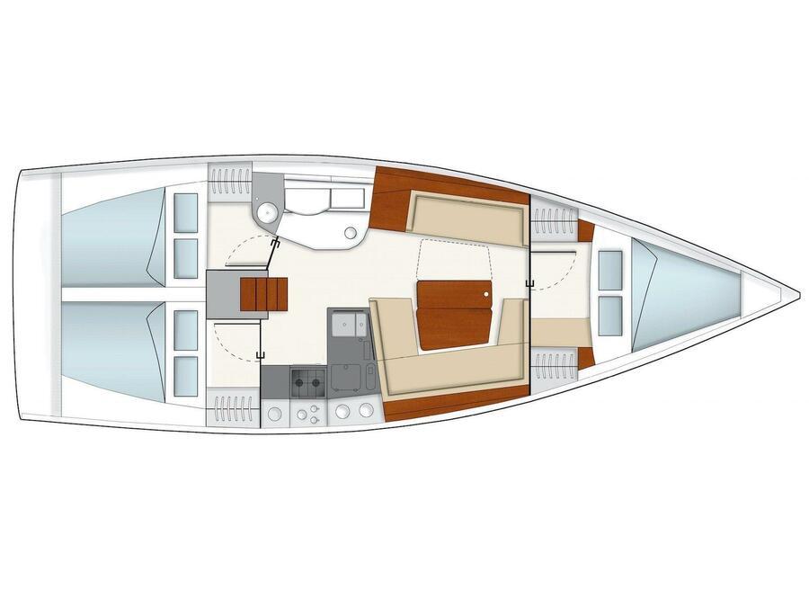 Hanse 385 (H385-2) Plan image - 2