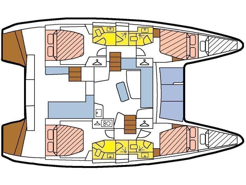 Lagoon 42 (Martine) Plan image - 3