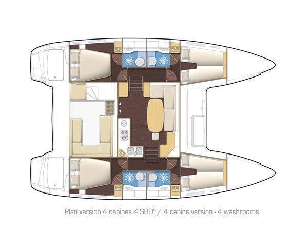 Lagoon 400 (MAISHA ) Plan image - 2