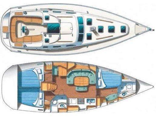 Oceanis 390 (Chiruca Dos (Majorca)) Plan image - 1