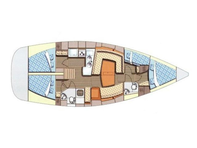 Elan 434 Impression (Alboran XXVI Piñacolada (Las Galletas)) Plan image - 2