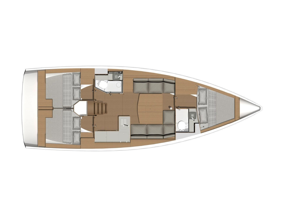 Dufour 390 Grand Large (Molesta) Plan image - 18