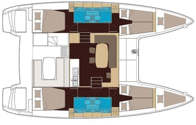 Lagoon 400 (Stray cat (Sails 2019, Solar panel)) Plan image - 9