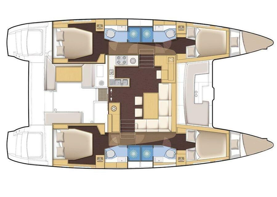 Lagoon 450 (Zuzo 2 - NEW IN FLEET!) Plan image - 20