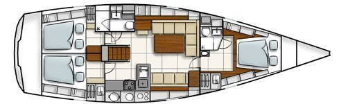 Hanse 470 (Shadow of the wind) Plan image - 4