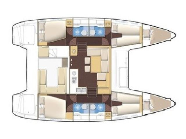 Lagoon 400 S2 (Senza Tempo) Plan image - 1