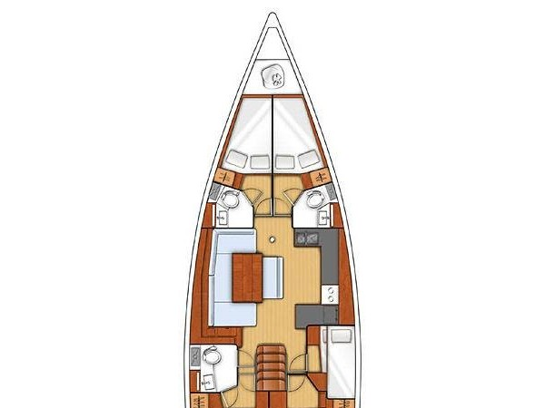 Oceanis 48 (Senza Fine )   ( A/C and Generator ) Plan image - 2