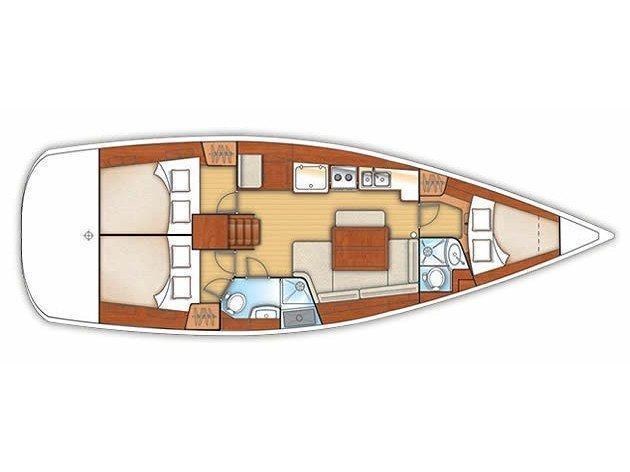 Oceanis 40 (Arietta) Plan image - 1