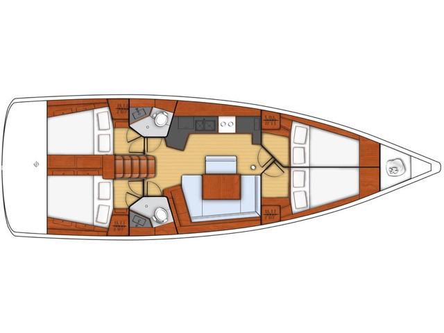 Oceanis 45 (Senza Limiti) Plan image - 1