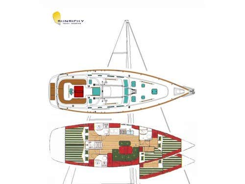 Oceanis 423 Exclusive (Senza Confini) Plan image - 1