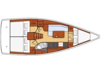 Oceanis 35.1 (Senza Fretta) Plan image - 2