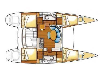 Lagoon 380 S2 (Twixie (Sails 2013, Solar panel)) Plan image - 7